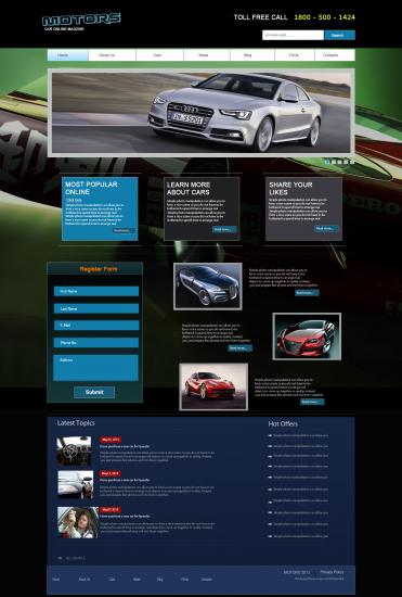 Car Company Layout Template