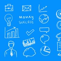 27 Business Doodles Vector PSD