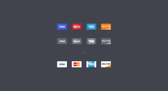 Credit Card Icons By Vilen