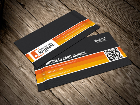 Business Card Template With Carbon Fiber Background