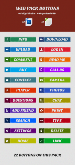 Web Pack Buttons