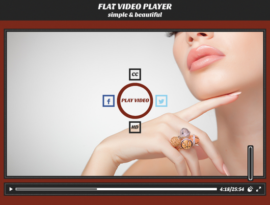 Flat Video Player