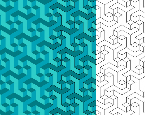 Geometric Escher Pattern By Artbeard
