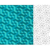 Geometric Escher Pattern By Artbeard