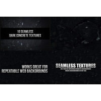 10 Seamless Dark Concrete Textures By Denny Tang
