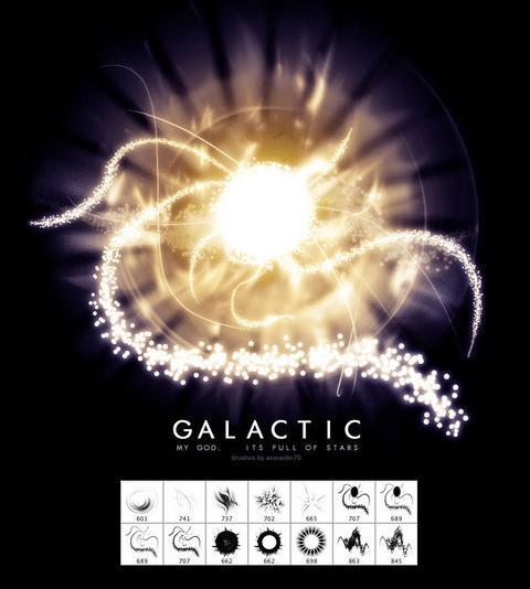 Galactic Brushes By Kabocha