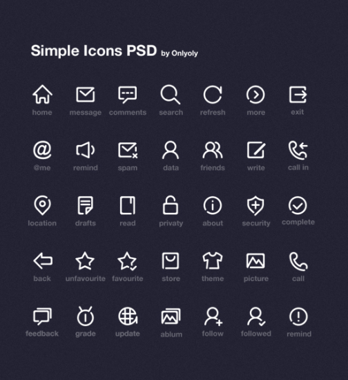 Simple Icon Set By OnlyOly
