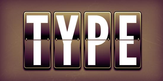Photoshop Split-Flap Text Display