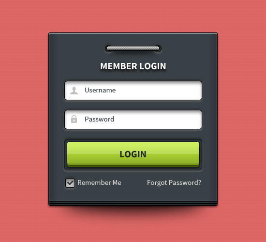 User Login Interface Design