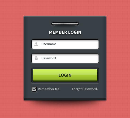 User Login Interface Design