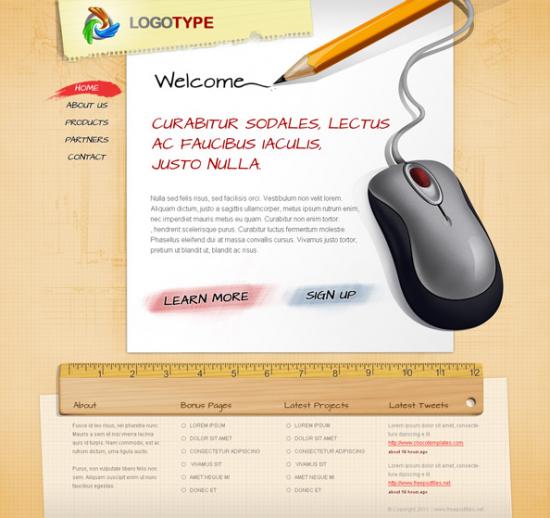 Free PSD Portfolio Template By Freepsdfiles.Net