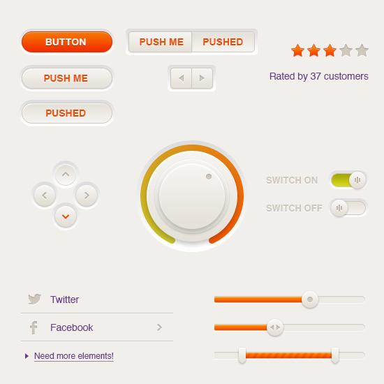 Cream UI Pack By Sergey Azovskiy