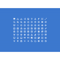 80 White Icons By Victor Erixon