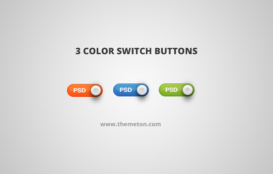 3 Color Button Switches