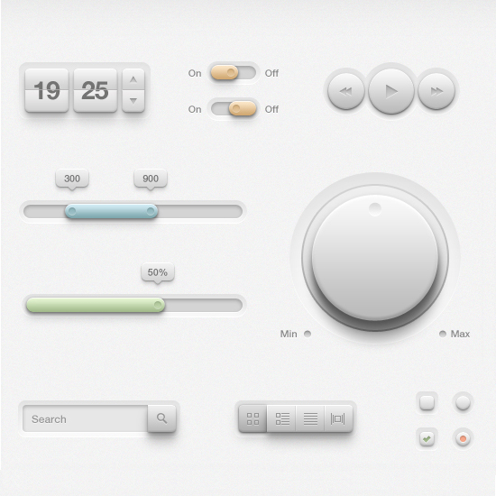 Light User Interface Kit By Piotr Kwiatkowski