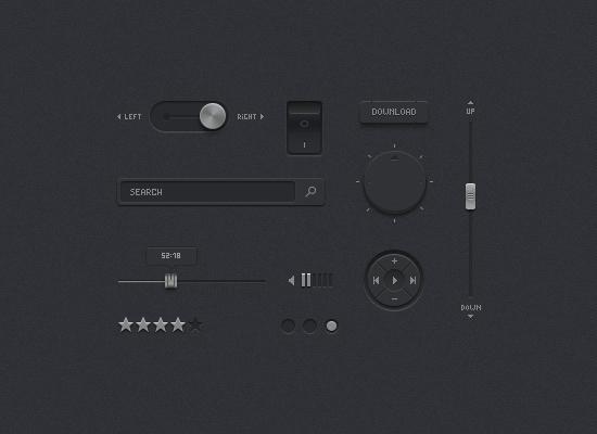 Dark UI Kit By Artur Kasimov