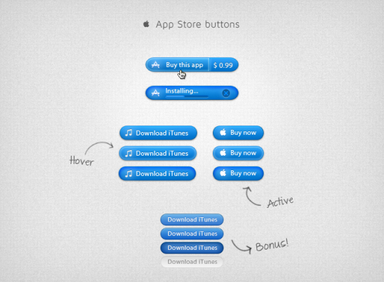 Apple App Store Buttons