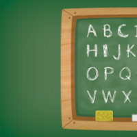 Green Chalkboard With A Wooden Frame