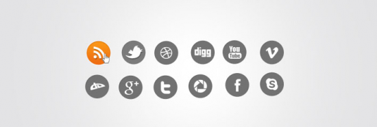 Simply Round Social Media Icons