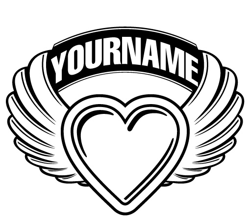Logo Template With Heart