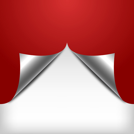 Red Paper Curl Background