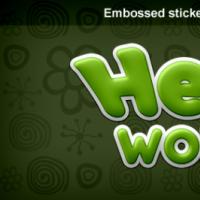 Sticker Text Style