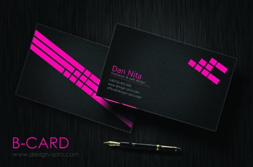 Business Card Pink