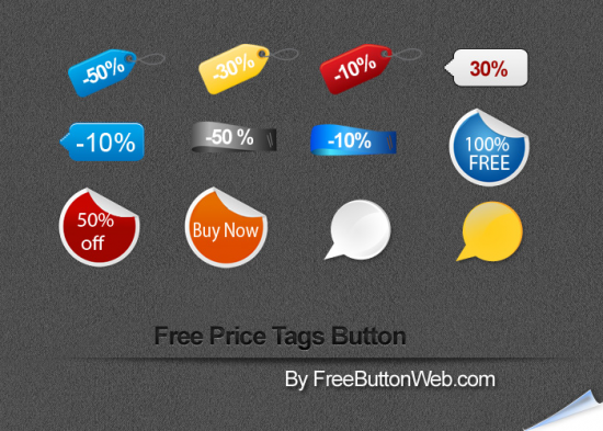 Free PSD Price Tags