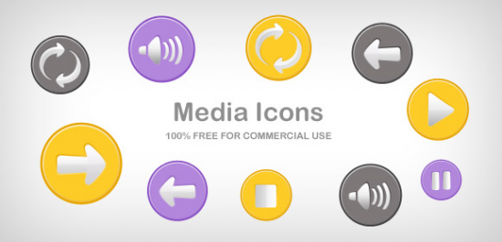 Media Button Icons Part 1 Free PSD And PNG