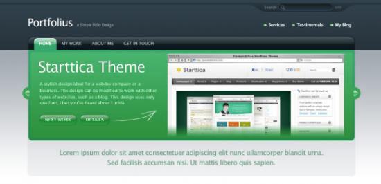 Portfolio Website Template Free PSD
