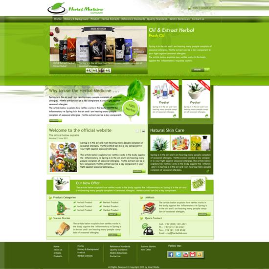 Herbal Medicine Company Site Template
