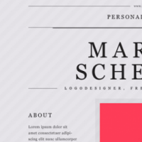 Personal Mini Portfolio Website Template