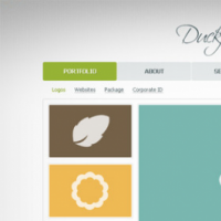 Another Mini Porftfolio Website Template Free PSD