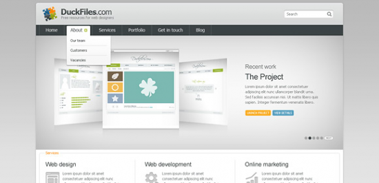 Corporate Porftfolio Website Template Free PSD