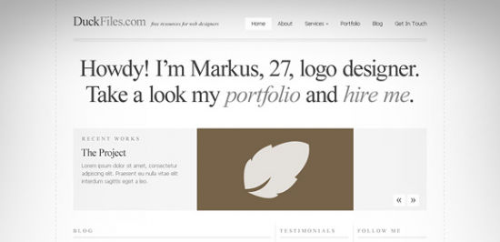 A Typography Perfect Website Template Free PSD