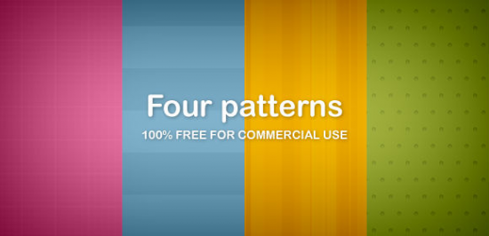Four Patterns Free PNG