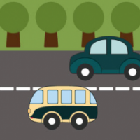 Illustration Set Of Cartoon Car Bus And Lorry Free PSD
