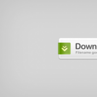 Download Button White Color With Green Ribbon Free PSD