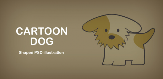 Illustration Of Cartoon Dog Free PSD