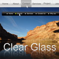 Clear Glass Menus