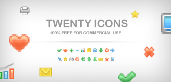 Set Of 20 Icons FREE PNG
