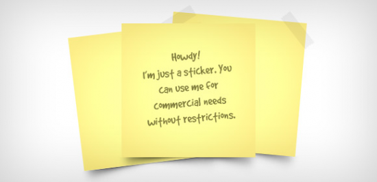 Yellow Sticky Note Free PSD
