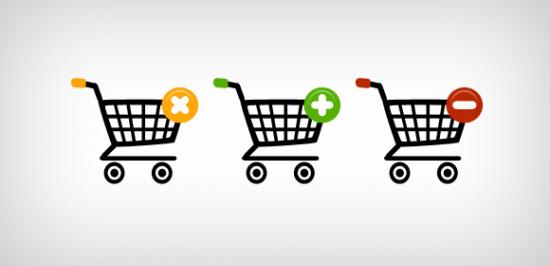 Three Shopping Web Icons