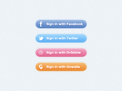 Sign-In PSD Buttons
