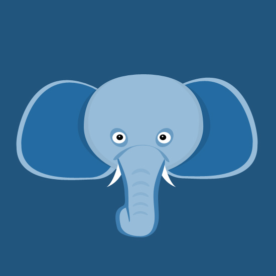 Illustration Of Elephant Free PSD