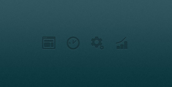 Four Shaped Icons For Corporate Website Free PSD