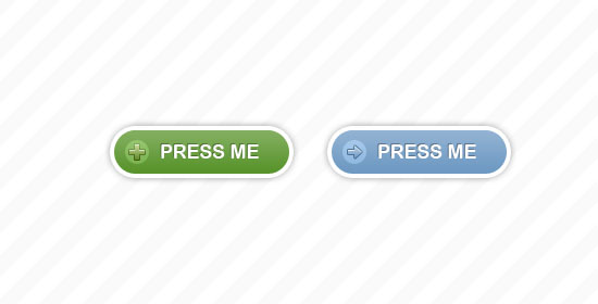 Two Rounded Buttons Free PSD