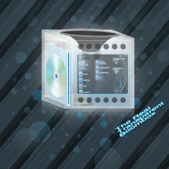 Transparent Boombox