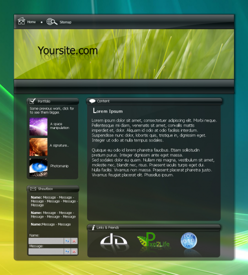 Vista Themed Template By Soflyfx