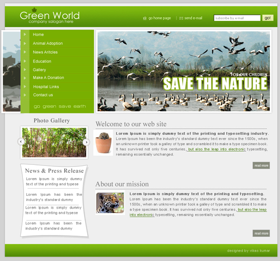 Save The Nature Template
